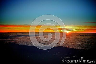 Amazing sunrise from heaven