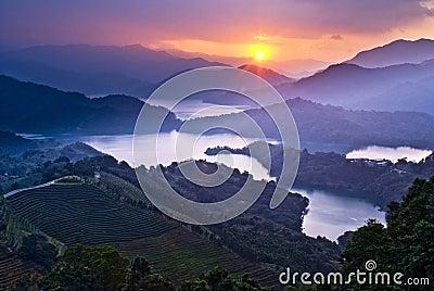 Amazing sunset with amazing mountains