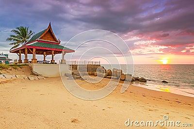 Amazing sunset on the beach of Koh Kho Khao island