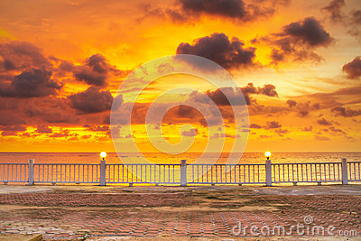 Amazing sunset over Andaman Sea