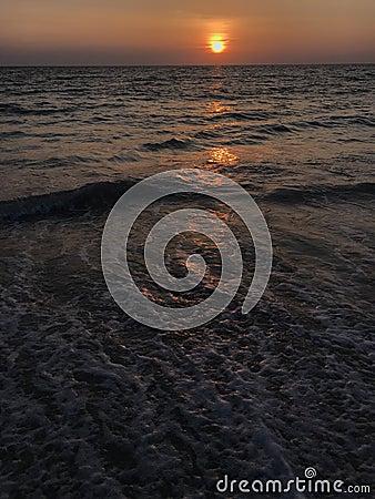 Free Amazing Sunset Scene At Phuket Beach, Thailand Royalty Free Stock Image - 138254096