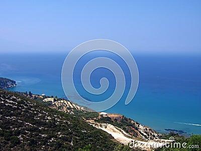 Amazing turquoise coastline