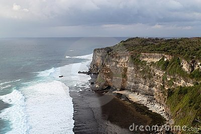 Amazing view of a cost in Uluwatu