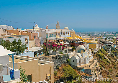 Amazing view of Fira on Santorini
