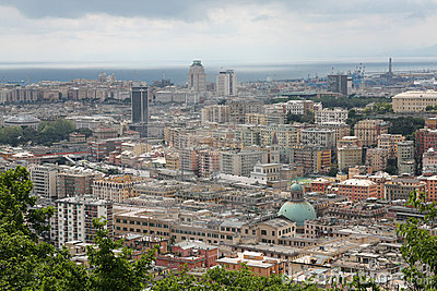 Amazing view of Genova (Italy)