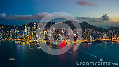 Amazing view of Hong Kong Editorial Image