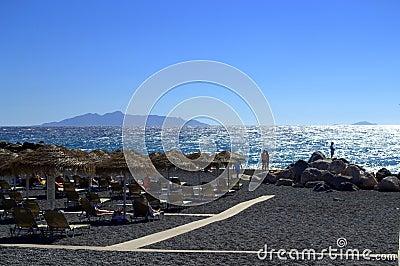 Amazing Santorini beach vista