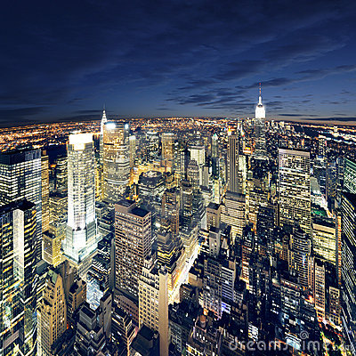 Amazing View To New York Manhattan - Newyork City Royalty Free Stock Photo - Image: 14487425