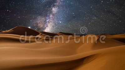 Amazing views of the desert under the night starry sky. Timelapse. Amazing views of the desert under the night starry sky. Timelapse stock video