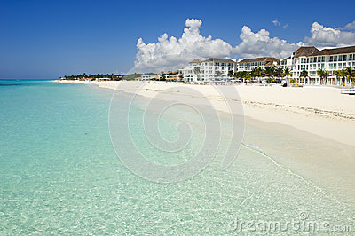 Amazing white sand caribbean beach