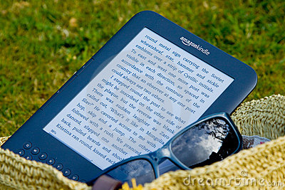 Amazon Kindle E-Reader Editorial Stock Photo