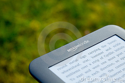 Amazon Kindle E-Reader Editorial Photo