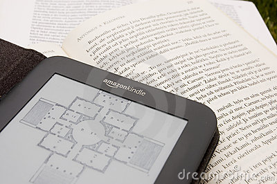 Amazon Kindle E-Reader Editorial Image