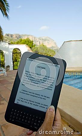 Amazon Kindle E-Reader Editorial Image