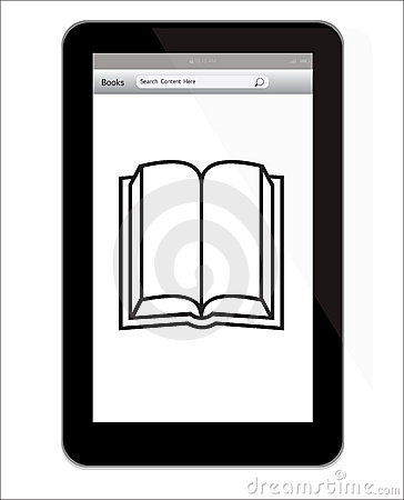 Amazon Kindle Fire tablet with book illustration Editorial Photo