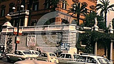 Ambassade van Verenigde Staten van Rome stock footage
