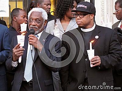 Ambassador Raymond Joseph and Aid Worker Editorial Photography