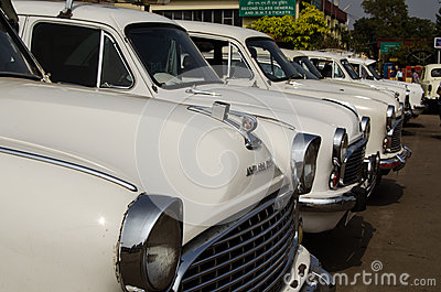 Ambassador Taxis, Hyderabad Editorial Photography