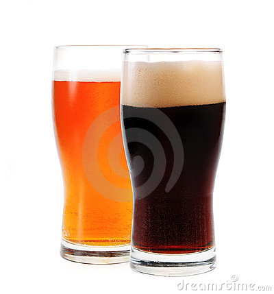 Amber ale and stout