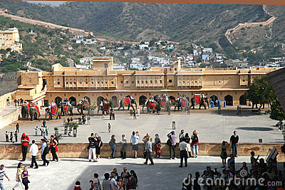 Amber fort, Jaipur, India Editorial Stock Photo