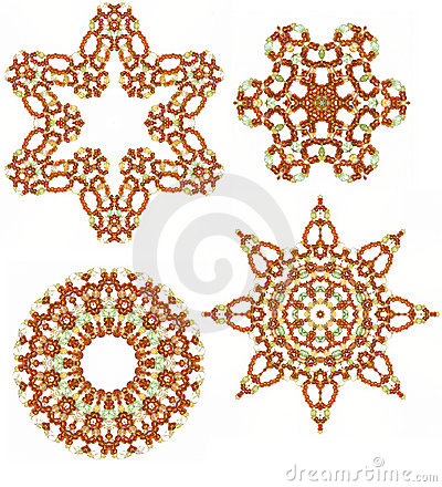 Free Amber Glass Beads Design Elements Stock Images - 12746394