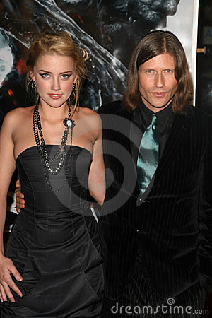 Amber Heard, Crispin Glover Editorial Stock Image