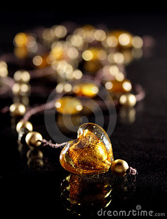 Free Amber Heart Royalty Free Stock Photography - 4268107