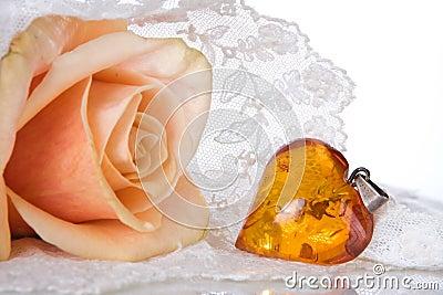 Amber heart