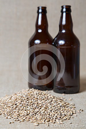 Amber Malt and bottles