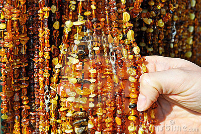 Amber Necklaces on a market stall