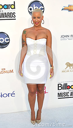 Amber Rose arrives at the 2012 Billboard Awards Editorial Image
