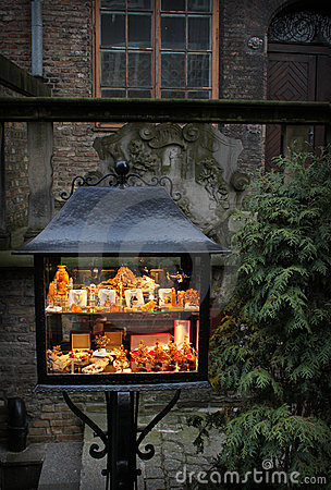 Amber stall in old city Gdansk, Poland