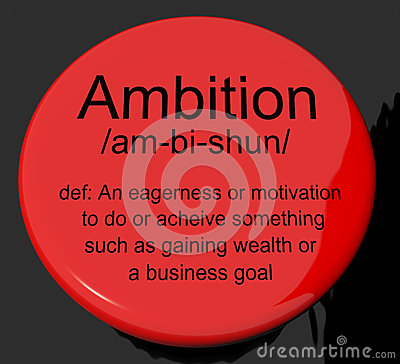 What dose ambitious mean