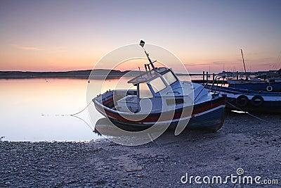 Amble Harbour at dawn