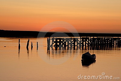 Amble Harbour sunrise