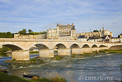 Amboise Chateau and old bridge