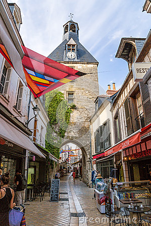 Free Amboise, France. The Main Gate Of Of The Fortress And The Clock Tower Royalty Free Stock Photo - 60348565