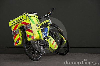 Ambulance bicycle Editorial Photography