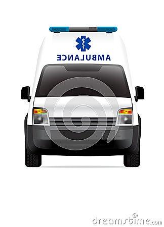 Ambulance car front view