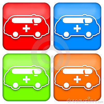 Ambulance icon set