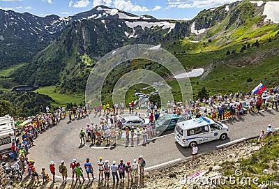 Ambulance of Le Tour de France Editorial Stock Image