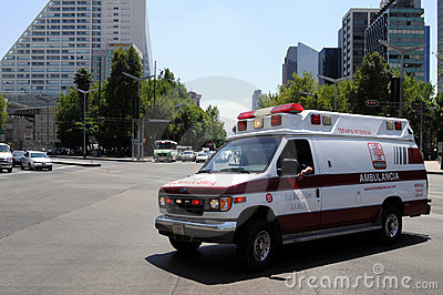 Ambulance in Mexico City Editorial Photography