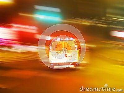 Ambulance night emergency Editorial Photo