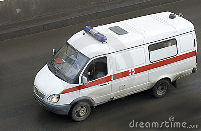 Ambulance rescue ambulance car driving fast