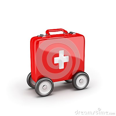 Free Ambulance Rushes To The Rescue Royalty Free Stock Photography - 121620407