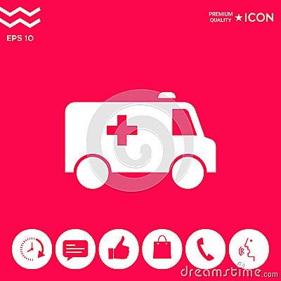 Free Ambulance Symbol Icon Royalty Free Stock Photography - 119973807