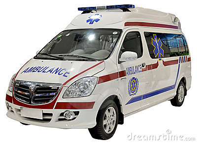 Ambulance van isolated