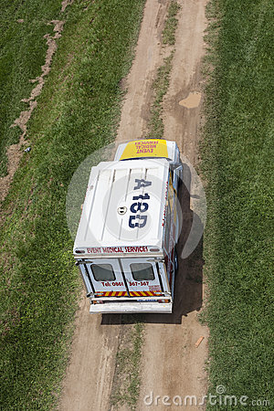 Ambulance Vehicle Below Editorial Photo
