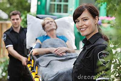 Ambulance Woman Portrait