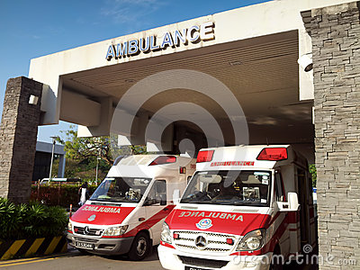 Ambulances on standby Editorial Photography